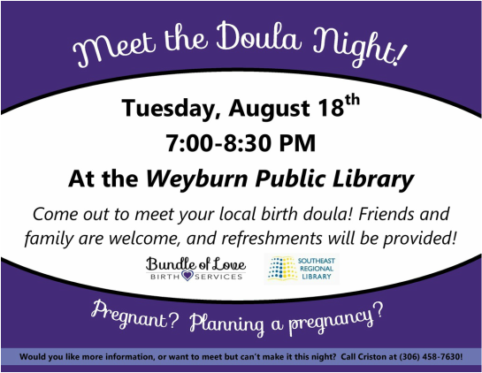 Weyburn Meet the Doula Night Poster